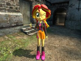 EQG Sunset Shimmer in Gmod by Aso-Designer
