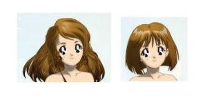 Which Medium short hair looks better??? by CardCaptorMiele