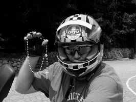 Pious Motorcyclist by isha-1