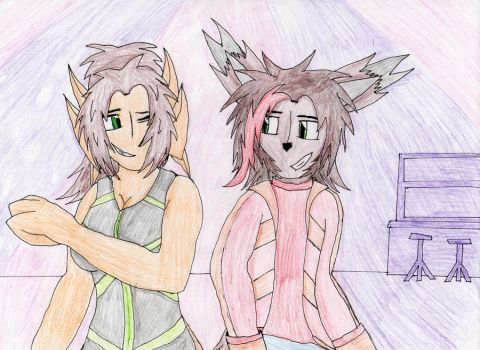 //Mike and Ruru: Please don't stop the music// by Cobalt-Chaos