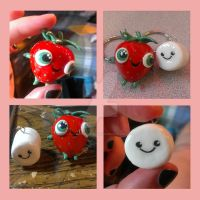 CWCM: Berry and Marshamallow Key chain Commissions by KarolinaSkaUniverse