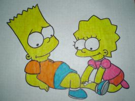 Bart and Lisa by HeinousFlame