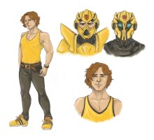 TF Bee_human form by BrabarMoony