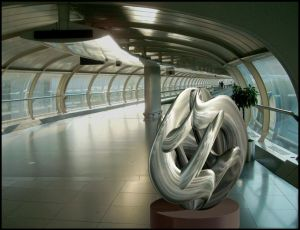 12-03-13 Sculpture at Manchester Airport by bjman