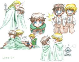 Kawaii Little Hobbits by The-Hobbit-Love-Club
