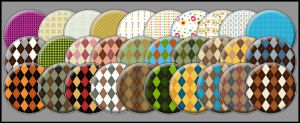 Patterned Buttons set III by noema-13