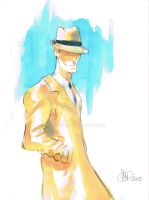 dick tracy watercolor by frankenart