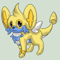 Shinx x Dunsparce adopt by Magpieradio