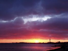 Provincetown sunset 1-3-08 by GoodandEvilinc