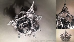Amazing resurfaced - 3D printed fractal sculpture by bib993