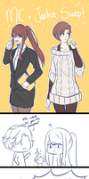 Jaehee and MC clothes swap! by C-Chesle