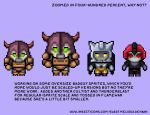 AHF Game: Sprite Sizes by WaywardInsecticon