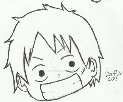 Luffy Sketch by wilfredpadilla