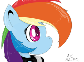 Anime Rainbow Dash by alexsalinasiii