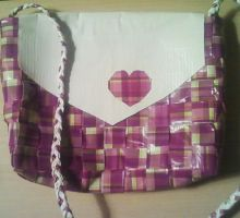 Plaid Duct Tape Hearts by UnderCoverCottonswab