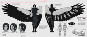 OUTDATED Xaanik Ref Sheet (Mid 2015) by SilverPsychopomp