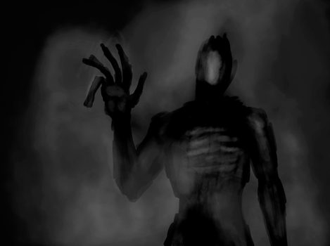Anatomy Practice Sketch #2 (turned into horror xD) by Zicorth
