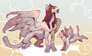 Adult and cub sphinx sample by 5019