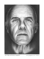 Sir Anthony Hopkins by gregchapin