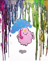 What the Lumps--- Melted Crayon Art by MayhemHere