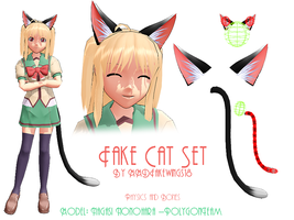 MMD- Fake Cat Ears -DL by MMDFakewings18