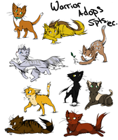 Warrior Cat Adopts by Queens-Adoptibles