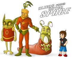 Aliens from Outer Space Lineup by stuffed