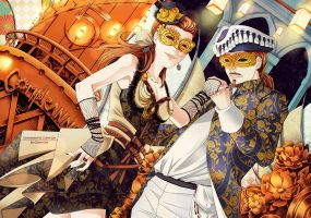 ::Commish:: Steampunk Italian Carnival by Clover-Doe