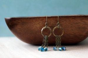 Linked. Rustic chic earrings. by earthexpressions