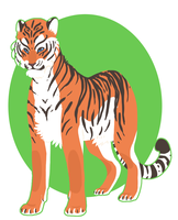 Lineless tiger by Possly