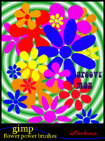 flower power gimp brushes by istarlome