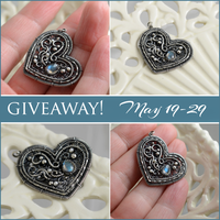 Heart pendant with labradorite - GIVEAWAY! by JoannaWatracz