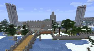 My minecraft castle in progress by Black-Feather