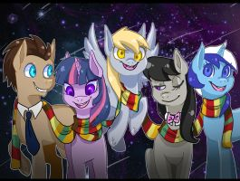 Doctor Whooves and his Companions by EllaMRed
