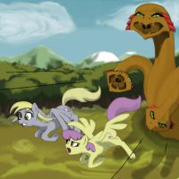 Ditzy and Showers in trouble by CallMeDoc