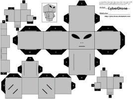 Cubee - Alien Grey by CyberDrone