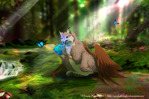 Puzzle Stone of the Forest by Axolotl-mafia
