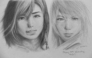 Final Fantasy Duo by Pandannabelle