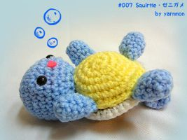 Baby Squirtle Pokemon Amigurumi by yarnmon