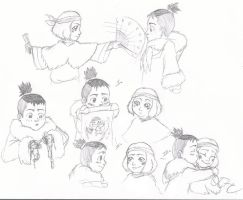 Young Sukka Sketches by QuaterComet