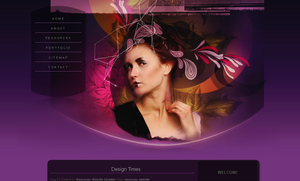 WP Theme - Dark Purple by So-ghislaine