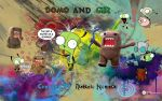domo and gir wallpaper by oneXwhoXhasXnoXsoul