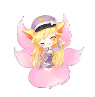 Pop Star Ahri by bunbuniie