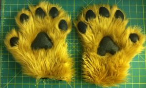 Commission - German Shepherd Hand Paws by TigeroftheWinds