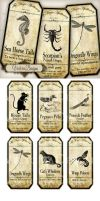Printable Magic Apothecary Labels Animals by VectoriaDesigns