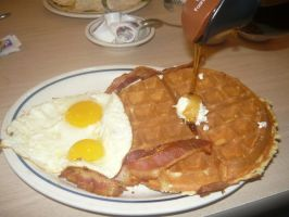 My Plate of Waffles, Eggs and Bacon by KambalPinoy