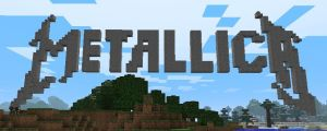 Metallica logo in minecraft by Delta77vioz