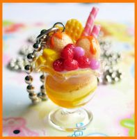 Orange Parfait Necklace by cherryboop