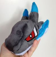 Pokemon - Mega Charizard X head custom plush by Kitamon