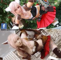 Lightning Returns: Final Fantasy  Miqo'te + cs6 by Queen-Azshara